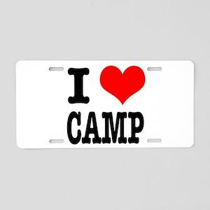 I Heart (Love) Camp Aluminum License Plate
