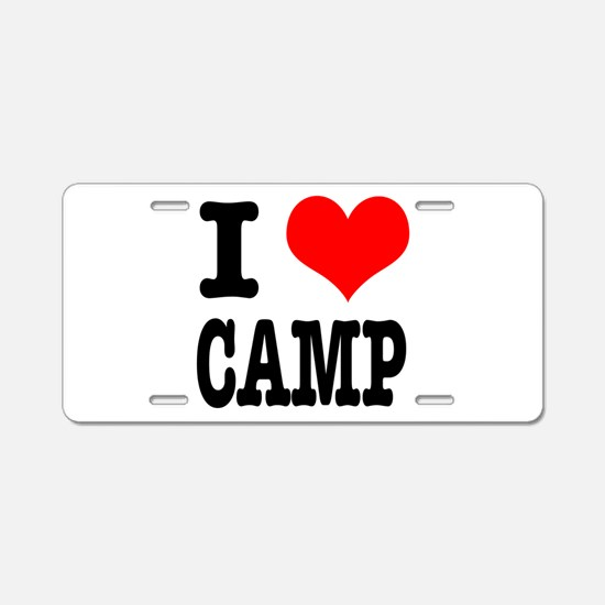 I Heart (Love) Camp Aluminum License Plate