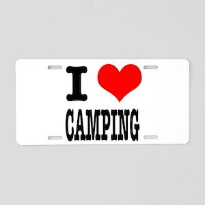 I Heart (Love) Camping Aluminum License Plate