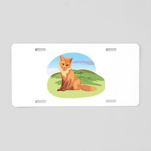 Scenic Fox Design Aluminum License Plate