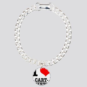 I Heart (Love) Cartwheels Charm Bracelet, One Char
