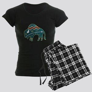 Native Buffalo Design Women's Dark Pajamas