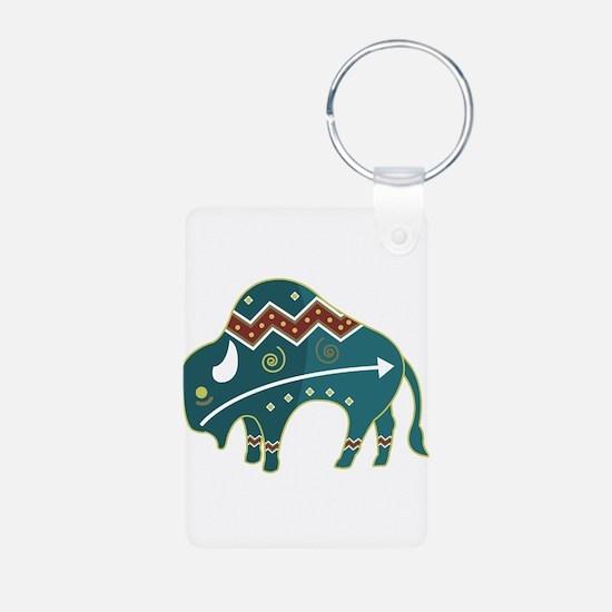 Native Buffalo Design Keychains