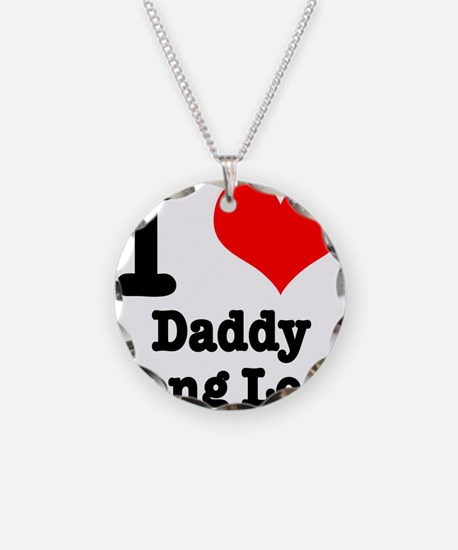 I Heart (Love) Daddy Long Leg Necklace