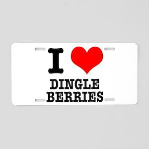 I Heart (Love) Dingleberries Aluminum License Plat