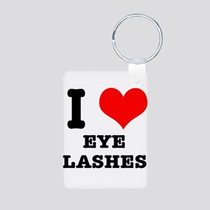 I Heart (Love) Eyelashes Aluminum Photo Keychain