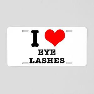I Heart (Love) Eyelashes Aluminum License Plate