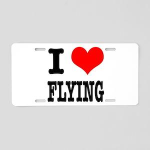 I Heart (Love) Flying Aluminum License Plate