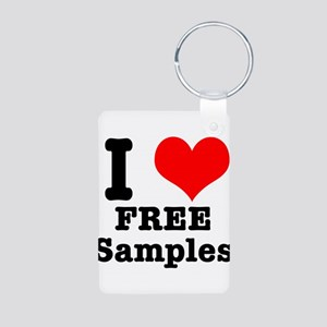 I Heart (Love) Free Samples Aluminum Photo Keychai