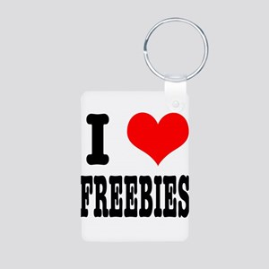I Heart (Love) Freebies Aluminum Photo Keychain