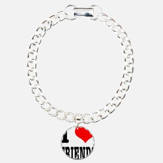 I Heart (Love) Friends Charm Bracelet, One Charm