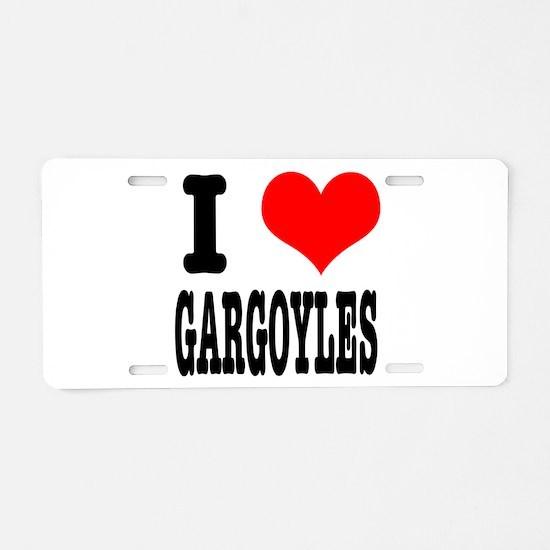 I Heart (Love) Gargoyles Aluminum License Plate