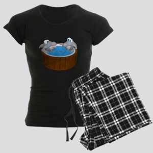 Sharks in a Hot Tub Women's Dark Pajamas