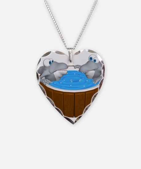 Sharks in a Hot Tub Necklace