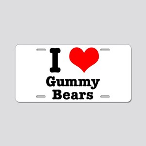 I Heart (Love) Gummy Bears Aluminum License Plate