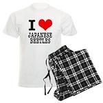 I Heart (Love) Japanese Beetl Men's Light Pajamas