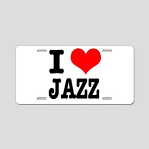 I Heart (Love) Jazz Aluminum License Plate