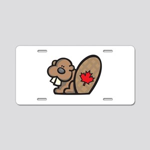 Cute Canadian Beaver Aluminum License Plate