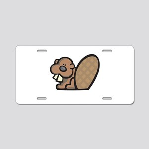 Cute Little Beaver Aluminum License Plate