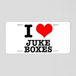 I Heart (Love) Jukeboxes Aluminum License Plate