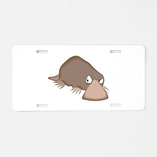Crabby Little Platypus Aluminum License Plate