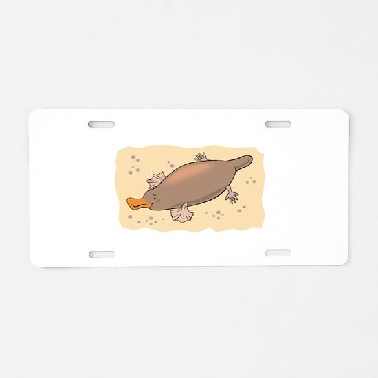 Cute Lil' Platypus Aluminum License Plate
