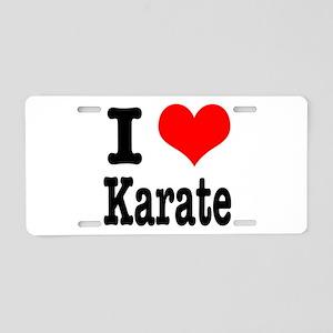 I Heart (Love) Karate Aluminum License Plate