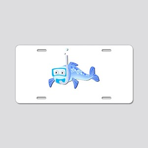 Snorkle Fish Aluminum License Plate