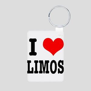 I Heart (Love) Limos Aluminum Photo Keychain