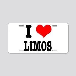 I Heart (Love) Limos Aluminum License Plate