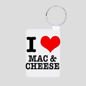 I Heart (Love) Mac & Cheese Aluminum Photo Key