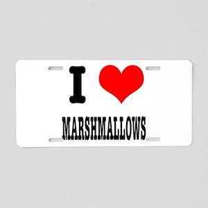 I Heart (Love) Marshmallows Aluminum License Plate