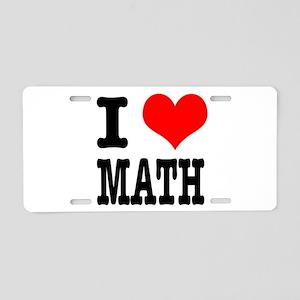 I Heart (Love) Math Aluminum License Plate