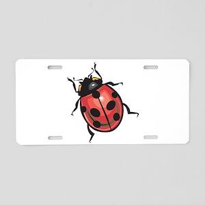 Lady Bug Aluminum License Plate