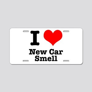 I Heart (Love) New Car Smell Aluminum License Plat
