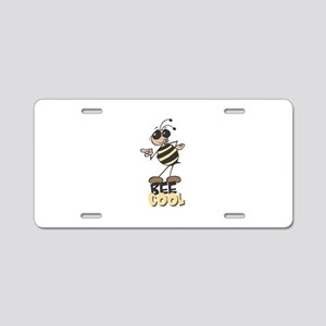 Be Cool Bee Aluminum License Plate