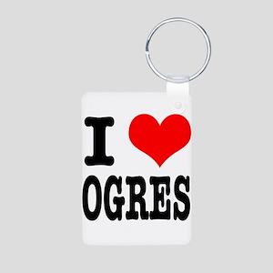 I Heart (Love) Ogres Aluminum Photo Keychain