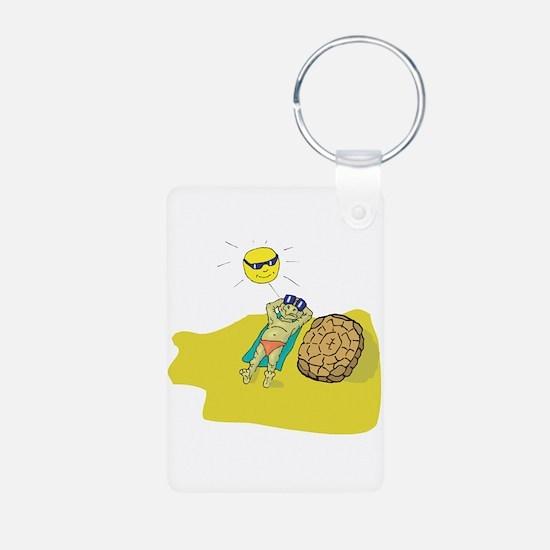 Silly Suntanning Turtle Keychains