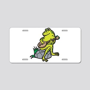Silly Frog Play Guitar Aluminum License Plate