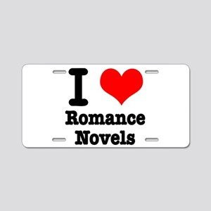 I Heart (Love) Romance Novels Aluminum License Pla