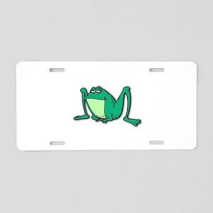 Cute Long-legged Frog Aluminum License Plate