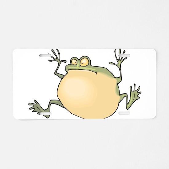 Pot-Belly Frog Aluminum License Plate