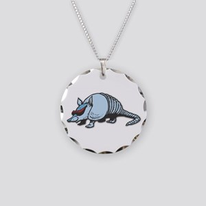 Cool Armadillo Necklace Circle Charm