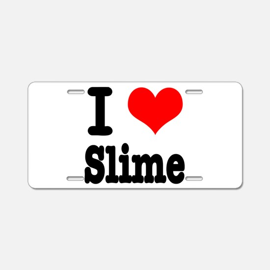I Heart (Love) Slime Aluminum License Plate