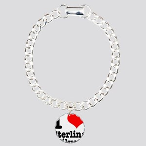 I Heart (Love) Sterling Silve Charm Bracelet, One