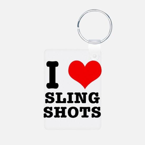 I Heart (Love) Sling Shots Keychains