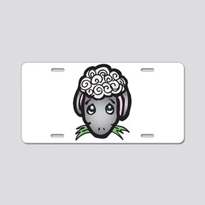 Cute Black Face Sheep Aluminum License Plate