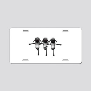 Silly Dancing Sheep Aluminum License Plate