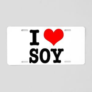 I Heart (Love) Soy Aluminum License Plate