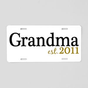 New Grandma Est 2011 Aluminum License Plate